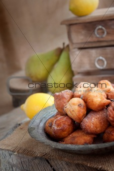 Bowl of Deep fried fritters