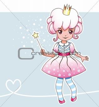 Sugar plum fairy with magic wand (Fairy series 1)