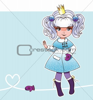 Snow  fairy princess with mittens (Fairy series 2)
