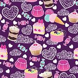 Sweet cute valentine desserts pattern