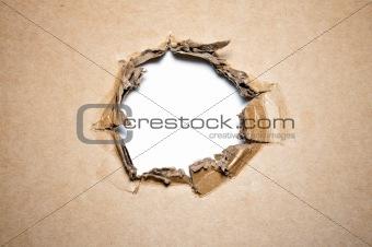 Cardboard hole