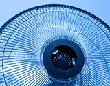 Closeup metal fan. Selective focus this object