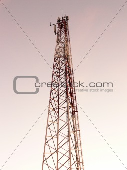 Industrial guyed mast tower