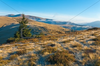 Morning autumn mountain landscape