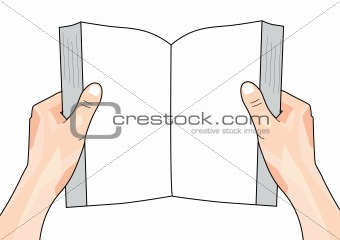 Hands Holding Book