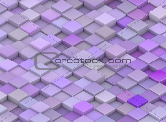 abstract backdrop 3d render cubes in different shades of purple