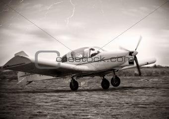 Small plane take of