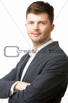 Portrait of a businessman isolated over white background