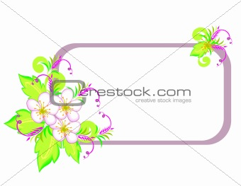 Abstract flowers with frame