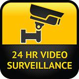 Video surveillance sign, cctv label