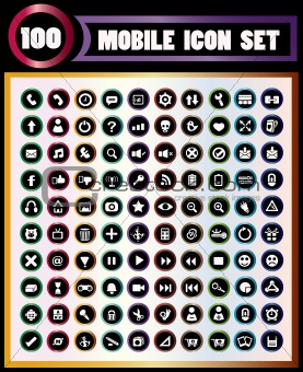 100 mobile icons.
