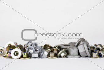various nuts used in the automotive industry