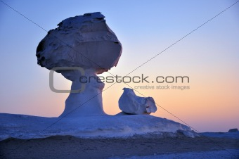 Landscape of the famous white desert in Egypt