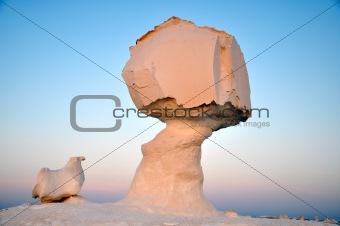 Landscape of the famous white desert in Egypt