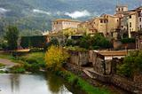 medieval town of Besalu, Catalonia. Spain