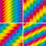 Set of four seamless rainbow patterns