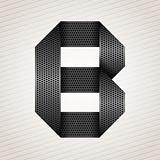 Letter metal ribbon - B