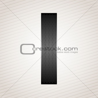 Letter metal ribbon - I
