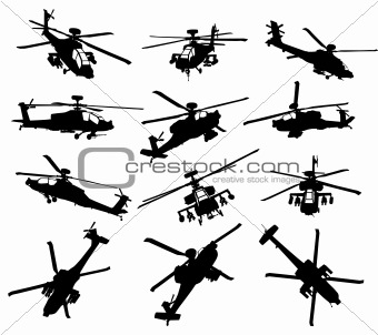 Apache Helicopter Set