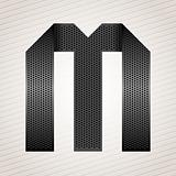 Letter metal ribbon - M