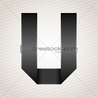 Letter metal ribbon - U