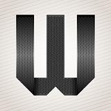 Letter metal ribbon - W
