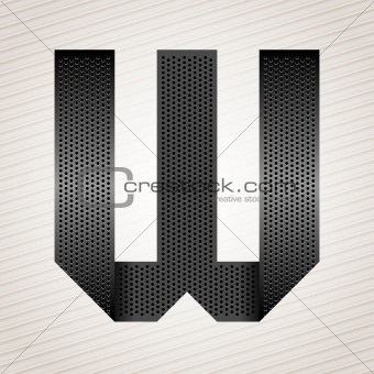 Letter metal ribbon - W