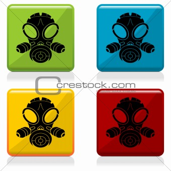 Gas mask sign buttons