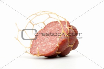 Small modest slice of sausage