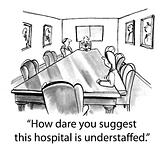 Hospital Administrator Talks to Staff