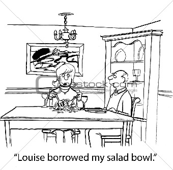 Woman is Trying to Fix a Salad Without a Salad Bowl