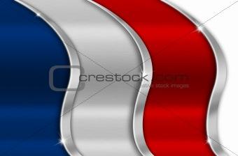 France Metal Flag