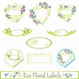 eco floral label set