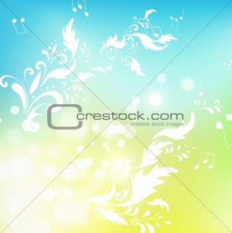 abstract floral with notes