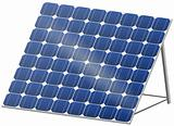 Solar panel in 3D