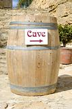 cask of wine cellar in Provence, France