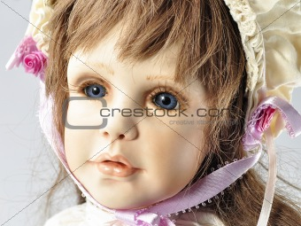 vintage doll portrait
