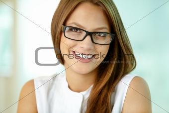 Charming business girl