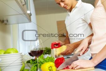 Together at kitchen