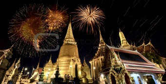 Father celebrate in Wat Phra Kaew.