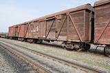 old rusty train wagons
