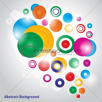 Abstract colorfull vector background with different colorful bubbles