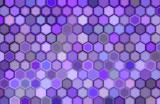 abstract 3d render hexagon backdrop in purple colors