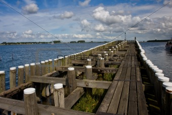 Pier in Veere, the Netherlands