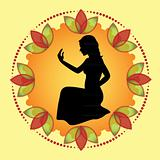 woman silhouette during meditation