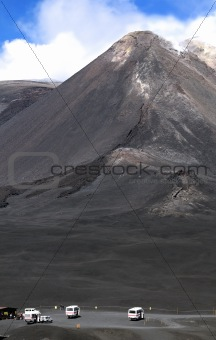 The peak of Mount Etna