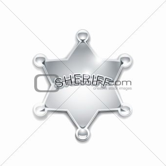 sheriff's metallic badge as star