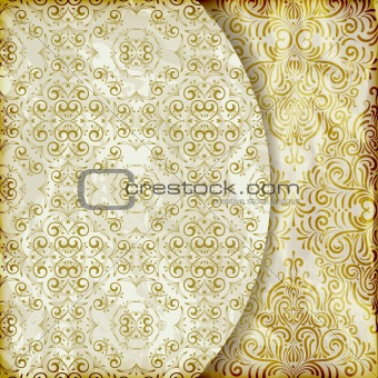 vector retro background with vintage floral patterns