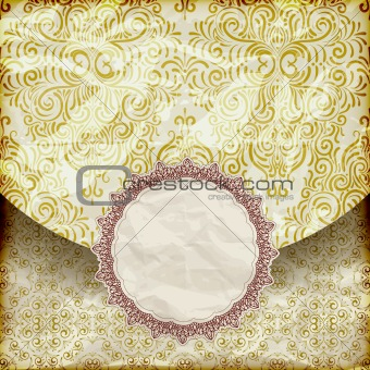 vector retro background with vintage frame for your text