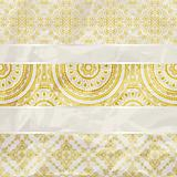 vector seamless floral borders on  crumpled golden foil  paper t